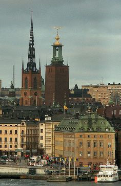 Stockholm my town Beautiful Places In The World, Most Beautiful Cities, Beautiful Places To Visit, Wonderful Places, Stockholm City, Stockholm Sweden, Sweden History, Gothenburg, City Landscape
