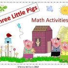 Lots of fun math activities to go with the story The Three Little Pigs