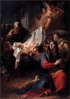 Natividad (1732), Giovanni Battista Tiepolo. Óleo sobre lienzo. Basílica de San Marcos, Venecia, Italia