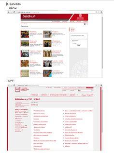 Servicios, biblioteca de la universidad de Salamanca, biblioteca de la universidad de Pompeu Fabra