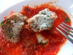 OMG!! Ricotta Stuffed Meatballs. A Must for Christmas Italian Dinner! Great appetizer too.