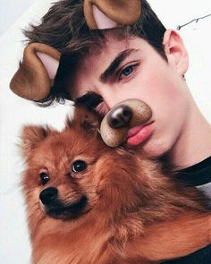 Find images and videos about boy, dog and manu rios on We Heart It - the app to get lost in what you love. Tumblr Boys, Dog Tumblr, Beautiful Boys, Pretty Boys, Beautiful People, Luna Darko, Snapchat Dog Filter, Manu Rios Fernandez, Grunge