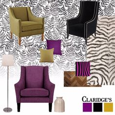 The eclectic style reflects itself well in the different sizes we chose for the furniture, upholstered in varying patterns. The charcoal black leafy wallpaper contrasts well with colourful chairs, paired with cushion covers in the same colour palette. To create balance, we added accents of white in the space. Read our blog to shop these products!