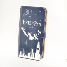 Book phone /iPhone flip Wallet case Peter Pan for iPhone X