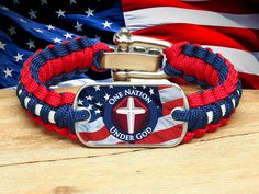 Light Duty Survival Bracelet™ - One Nation 1 - R. Patriot