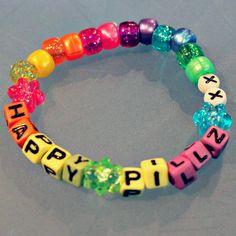 Rainbow Happy Pillz Kandi by KandiKweens on Etsy                                                                                                                                                                                 More
