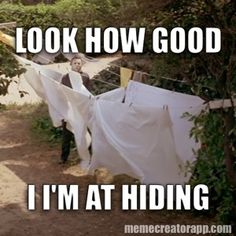 Michael Myers thinking he's stealth.