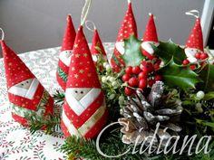 Cidiana: Papa Noel en log cabin.