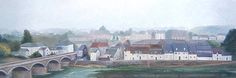 Amboise and the Loire River, France. Home decor, living room art, France landscape