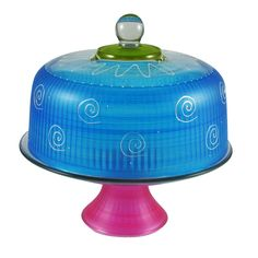 Frosted Curl Cake Stand