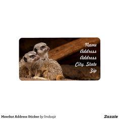 Meerkat Address Sticker