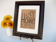 Burlap Print Wall Word Art Rustic Sign Home by InTheDustDesigns