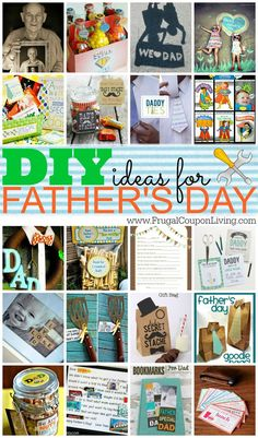 DIY Fathers Day Ideas for the Kids! Round-up of some of the best ideas from Bloggers on the web. Crafts for Dad this Father's Day.