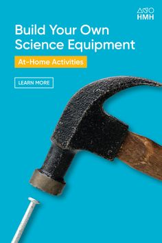As the school year draws to a close and in the light of the ongoing pandemic, you may be looking at remote learning opportunities for students over the summer.  Download this DIY lab equipment activity to help your students make their own scientific instruments— including balances, graduated cylinders, magnifiers, planters, and specimen boxes—using easy-to-find materials.  #HMHCo #TheLearningCompany Chemistry Lab Equipment, Science Equipment, Chemistry Labs, Science Resources, Learning Resources, The Learning Company, Home Activities, Kids House, Remote