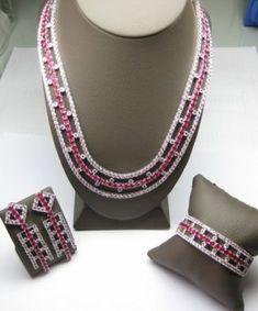 Art Deco parure. rubies and diamonds
