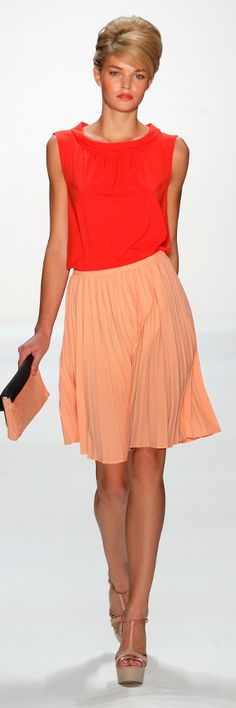 Mercedes-Benz Fashion Week Berlin Trend Citrus Minx by Eva Lutz....so fresh and pretty. love this combo together and the nude strappy shoe.