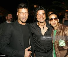 Ricky Martin, Chayanne and Daddy Yankee during Spanish Broadcasting System's Star-Studded Mega TV Launch Party - March 4, 2006 in Bal Harbour, Florida, United States.