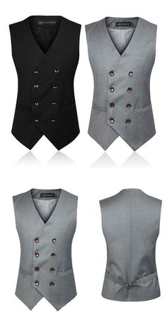Business Formal Double Breasted Suit Vest / British Style Waistcoats for Men Source by clothing styles Waistcoat Men, Mens Suit Vest, Denim Jacket Men, Blazer Outfits Men, Stylish Mens Outfits, Indian Men Fashion, Mens Fashion Suits, Gilet Costume, Formal Men Outfit