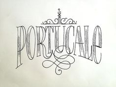 Portucale Handwritten typography 11.13.14 photo