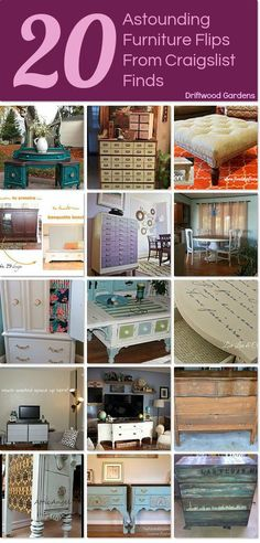 20 astounding furniture flips from craigslist finds idea box by driftwood gardens - How To Flip Furniture