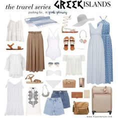 Pack And Go: Greek Islands<3 by soccerstar59777 on Polyvore featuring Packandgo and greekislands