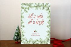 Calm & Bright Holiday Non-Photo Cards by Sarah Bro... | Minted