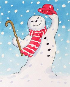 Dancing Snowman - Lavinia Hamer