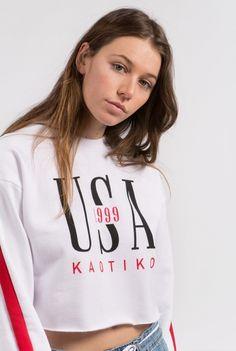 www.kaotikobcn.com Made in Barcelona  kaotikobcn  clothing  girl   sweatshirt  1999  red  white  hoodie  usa  white 2ce4896bd2fb1
