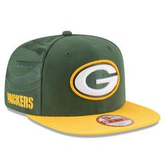 NFL Green Bay Packers New Era Green 2016 Sideline Official 9Fifty Snapback  Hat Packers Gear 22caff8d0