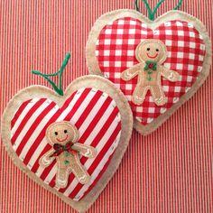 Gingerbread Ornaments / Gingerbread Felt Ornaments di CraftsbyBeba