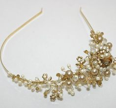 Wedding tiara wedding headband Vintage dream by BeSomethingNew, $120.00
