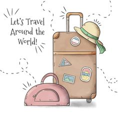 Travel Drawing, Travel Party, Travel Wallpaper, Travel Illustration, Instagram Highlight Icons, Travel Scrapbook, Travel Themes, Doodle Art, Easy Drawings