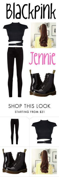 """""""Blackpink ~ Jennie"""" by nanamochi14 ❤ liked on Polyvore featuring Gucci, Boohoo, Dr. Martens and Clair Beauty"""