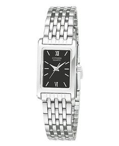Citizen Watch, Women's Stainless Steel Bracelet 18mm EJ5850-57E - All Watches - Jewelry & Watches - Macy's