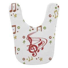 Music to eat by baby bib - kids kid child gift idea diy personalize design