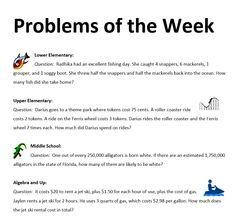 Problems of the Week - Feb 22  http://www.mathnasium.com/ahwatukee/news/problems-of-the-week-feb-22