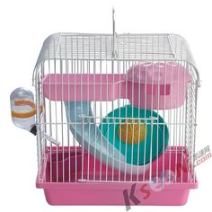 Pink Little Hamster Cage/ Little Pet Cage/ Pet Supplies Hamster Supplies, Pet Supplies, Hamster Cages, Pet Cage, Little Pets, Goldfish, Hamster Stuff, Super Cute, Hamsters