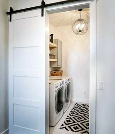 Who says that having a small laundry room is a bad thing? These smart small laundry room design ideas will prove them wrong. Laundry Room Bathroom, Laundry Room Remodel, Farmhouse Laundry Room, Small Laundry Rooms, Laundry Room Design, Basement Laundry, Small Bathroom, Basement Flooring, Master Bathroom