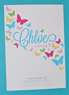Printable Invitations Butterfly Party by by BloomDesignsOnline, $14.00