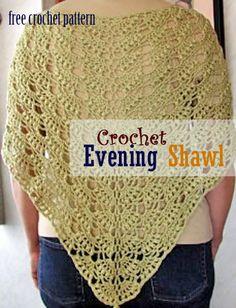 Evening Shawl crochet pattern « The Yarn Box