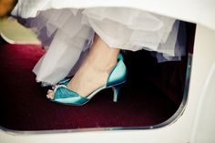 Blue Bridal Shoes - Photo Source • Bamber Photography