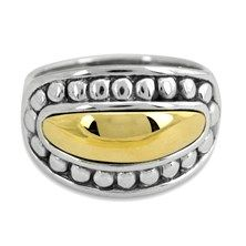 James Avery Two-Tone Ring in Sterling Silver and 14K Yellow Gold. $195 #jamesavery #ring