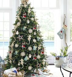 sea and beach inspired coastal christmas decor collections
