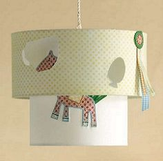 Gingerbread Lampshade - $79.95 - Add some fun to your nursery with this quirky lampshade.   A bright and fun unisex range #sweetcreations #baby #boys #bedroom #nursery #decor #lighting #lamp #Gingerbread