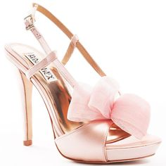 Badgley Mischka Women's Xavier - Pink Satin ($190) ❤ liked on Polyvore featuring shoes, sandals, heels, sapatos, pink, badgley mischka, platform, slingback, open toe and formal