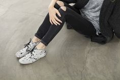 Maruti footwear. Moonscape grey. Womens best friends.