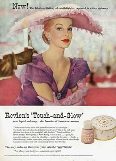 Now the fabulous flattery of candlelight captured in a face make-up! #vintage #makeup #cosmetics #beauty #ad