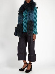 Lamb and fox-fur scarf | Fendi | MATCHESFASHION.COM UK