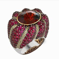 #vivid #brilliant #beautiful #amazing are all words that describe our #zorabcreation #ring! #diamonds #gemstones #jewels #jewelry #luxury #luxe #fashion #stylist #style #fashionstylist #lady #love #loveit #instafashion #red #pink #royal