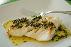 Organically Paleo: Alaskan Rockfish.White Balsamic Herbed Butter Reduction.